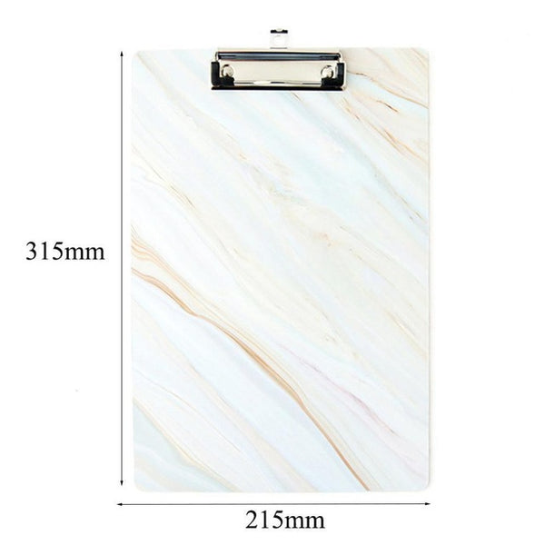 Marble Clipboard Clip FileFolder Writing Pad