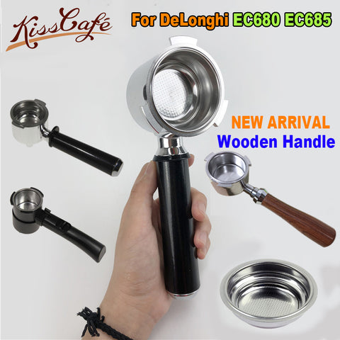 Stainless Steel Coffee Machine Bottomless Filter Holder Barista Tool