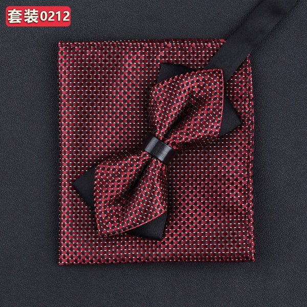 Fashions Men's Bowtie And Pocket Squares  Bow Tie