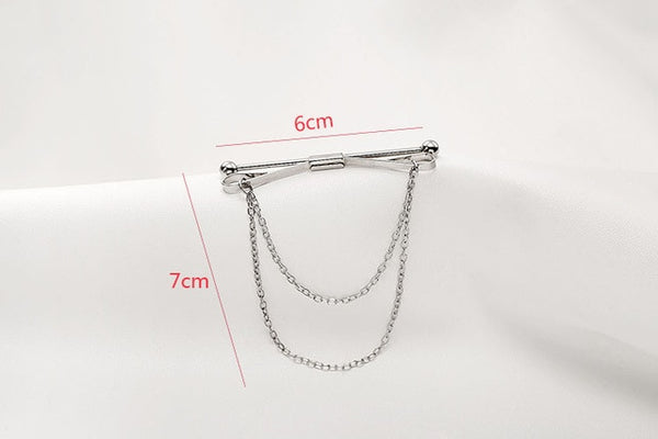 Fashion Personality Brooch Tassel Chain Clip Collar