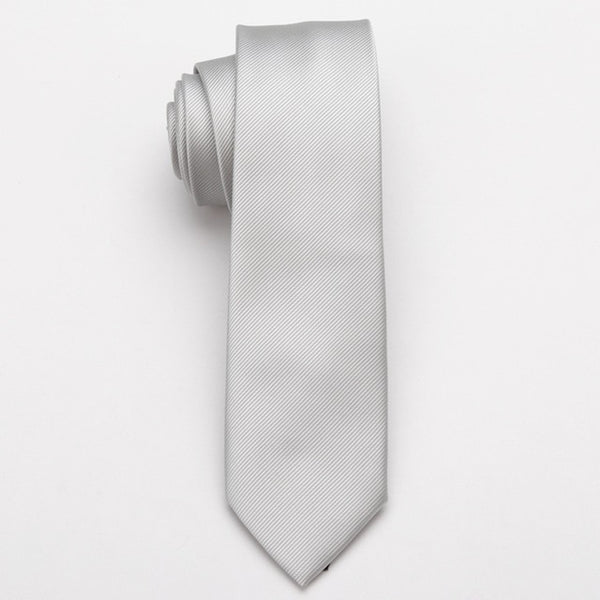 Men Skinny necktie wedding ties Polyester Black Dot