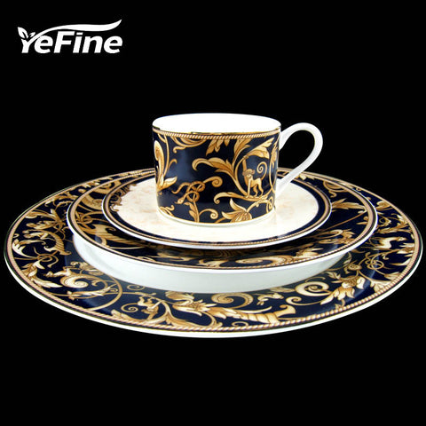 Ceramic High-grade Gold Plating Bone China Dinnerware