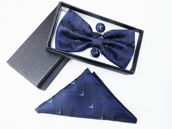 silk gifts for men bowtie Pocket Square cashew