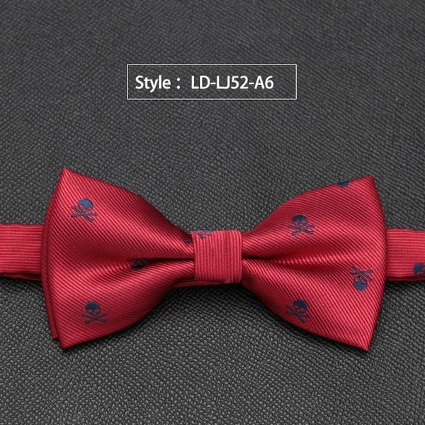 Mens Bow Tie Skull Fashion Wedding Party Bowtie