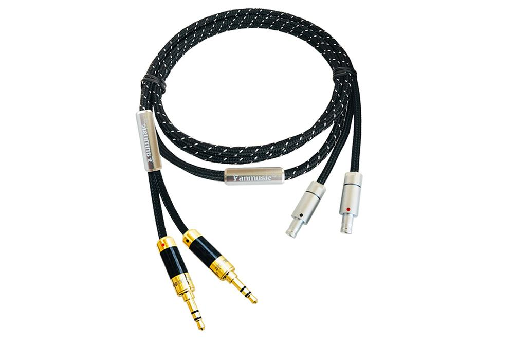 Fanmusic ZY HiFi OCC 6N HD800 800s 820 Portable Headphone Upgrade Cable 1.2m