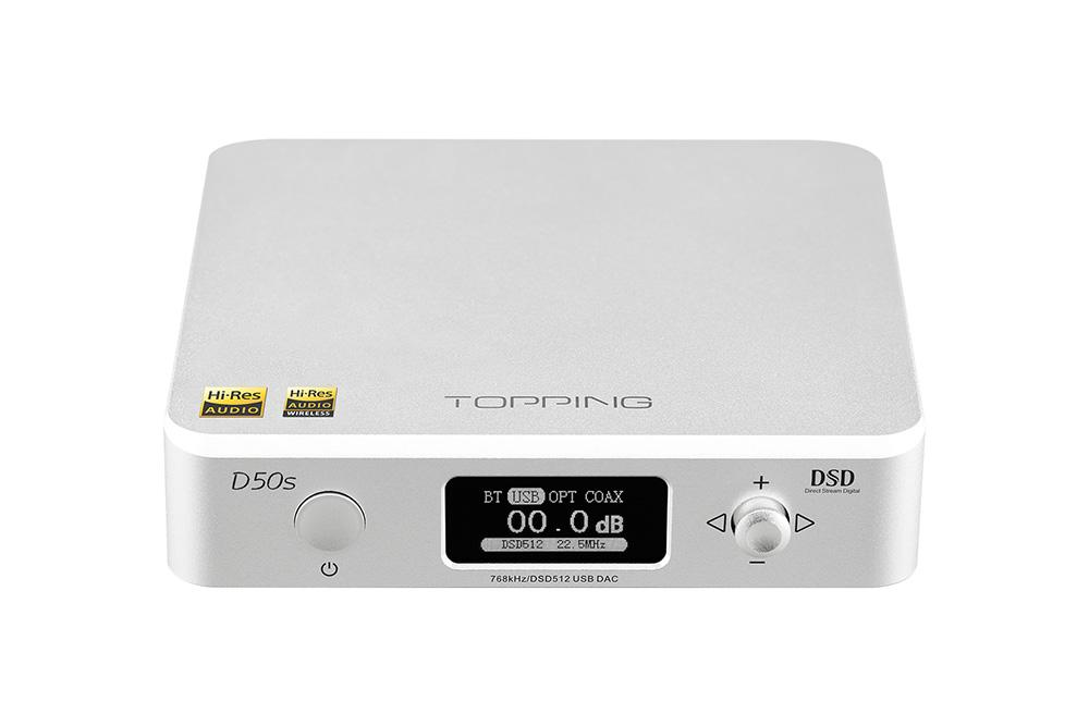TOPPING D50s Bluetooth5.0 デスクトップデコーダー DSD512 32bit / 768kHz 2*ES9038Q2M ハイレゾ DACデコーダー