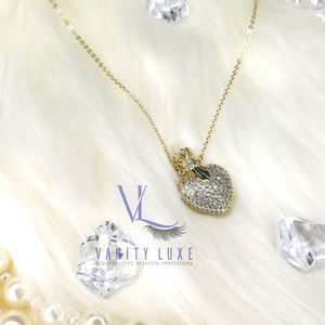 """Crowned Heart"" Necklace"