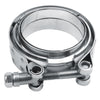 WoWAutoPart Exhaust V-Band Clamp Mild Steel Flat Flange Kit