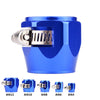 WoWAutoPart Oil Fuel Hose End Cover Clamp HEX Finisher Fitting Adapter Blue