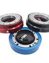 Universal Steering Wheel Quick Release Hub Adapter Snap Off Boss Kit Red Blue Black QR003