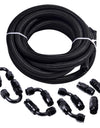 WoWAutoPart Nylon Braided CPE Fuel Line Kit 16Ft