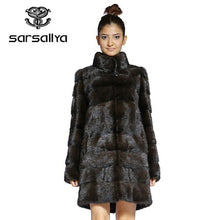 Load image into Gallery viewer, Real Fur Coat Mink Women Winter Natural Fur Mink Coats And Jackets Female Long Warm Vintage Women Clothes 2019 Plus Size 6XL 7XL
