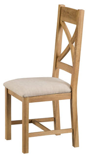 Tucson Cross Back Chair Fabric Seat