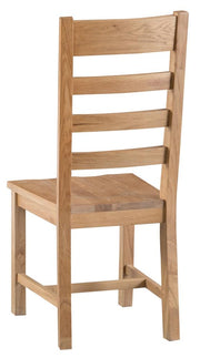 Tucson Ladder Back Chair Wooden Seat