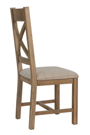 Hatton Cross Back Dining Chair (Natural Check)