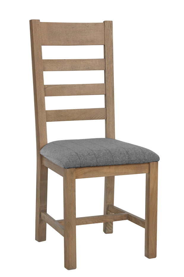 Hatton Slatted Dining Chair (Grey Check)
