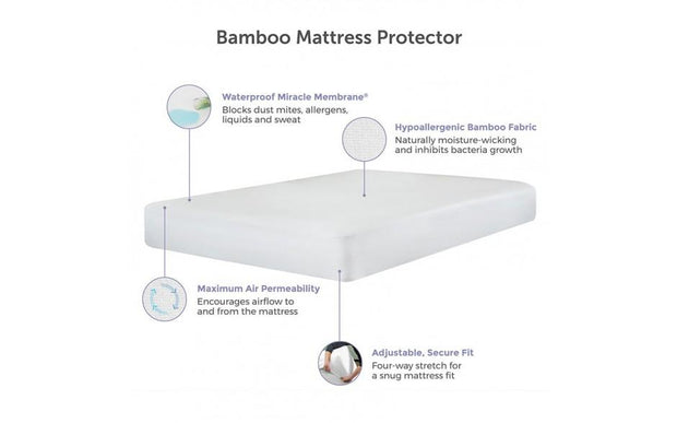 Protectabed Bamboo Hypoallergenic Waterproof Mattress Pad Protector
