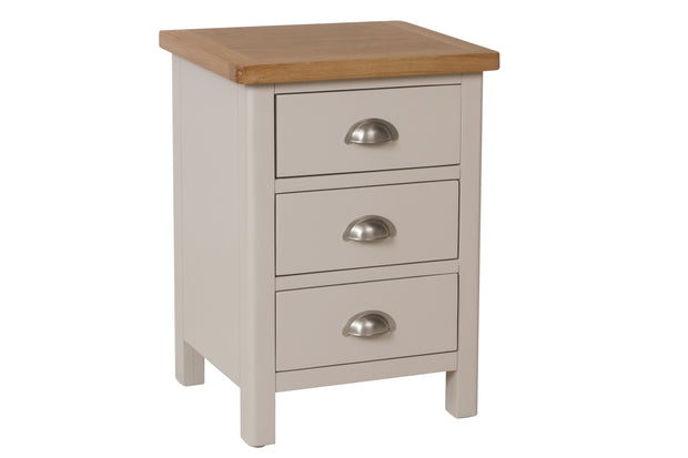 Portland 3 Drawer Bedside Table