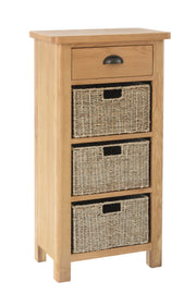 Hampton 1 Drawer 3 Basket Unit