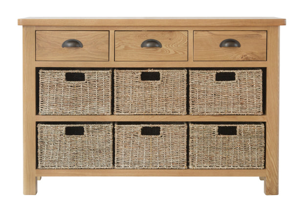 Hampton 3 Drawer 6 Basket Unit