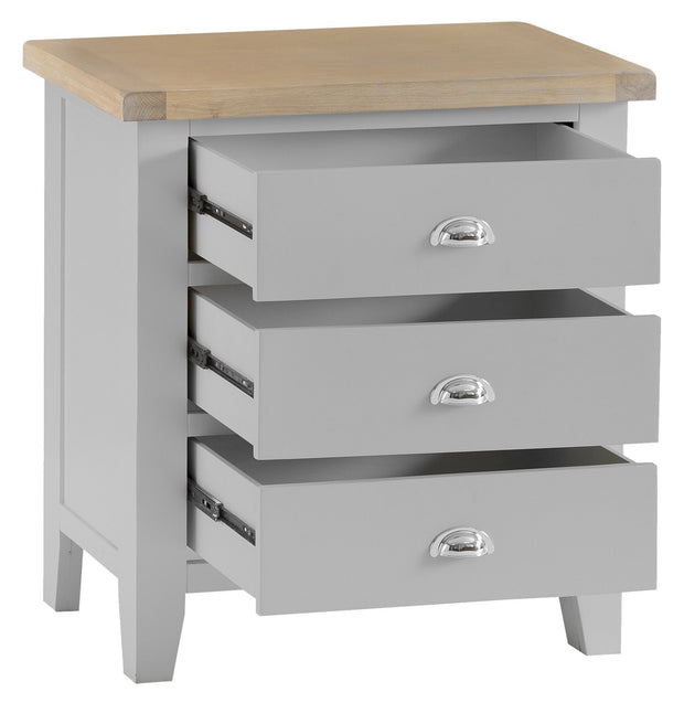 Hampstead Grey 3 Drawer Chest Of Drawers