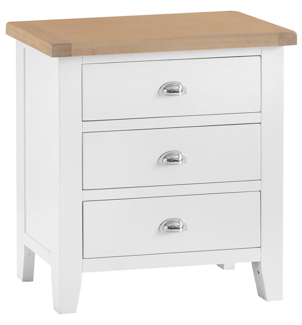 Hampstead White 3 Drawer Chest Of Drawers