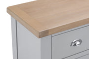 Hampstead Grey 4 Drawer Narrow Chest Of Drawers