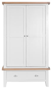Hampstead White Large 2 Door Wardrobe