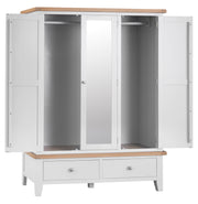 Hampstead White Large 3 Door Wardrobe