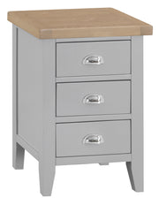 Hampstead Grey Large Bedside Table