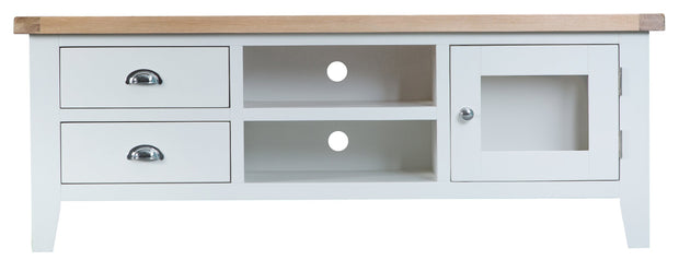 Hampstead White Large TV Cabinet
