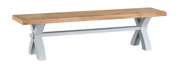 Hampstead Grey Cross Bench - Various Sizes