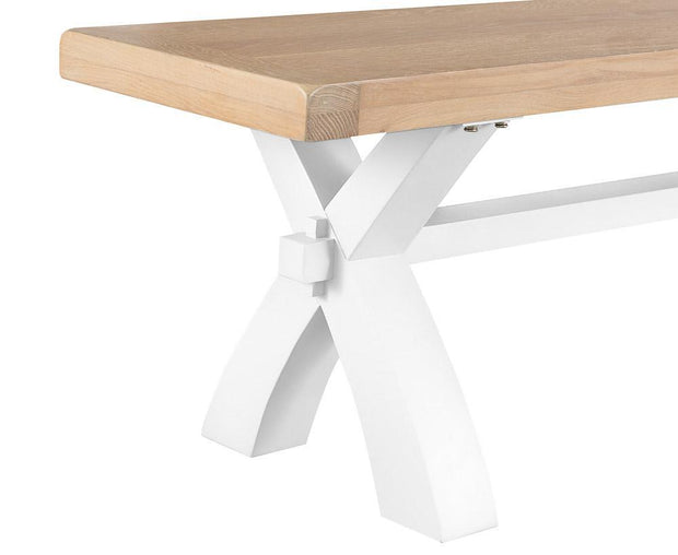 Hampstead White Cross Bench - Various Sizes