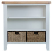Hampstead Grey Small Wide Bookcase
