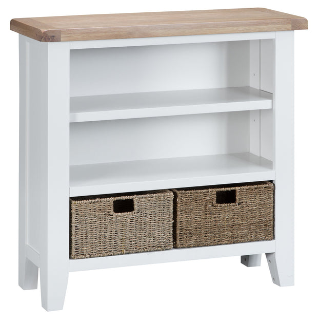 Hampstead White Small Wide Bookcase