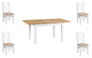 Hampstead White Extending Butterfly Dining Table & Choice of 4 Chairs