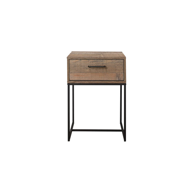 Rustic 1 Drawer Narrow Bedside Table