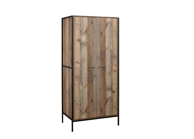 Rustic 2 Door Wardrobe