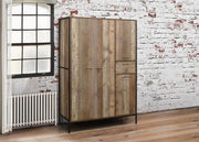 Rustic 3 Door Combination Wardrobe