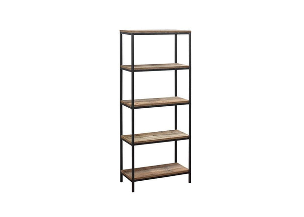 Rustic 5 Tier Bookcase
