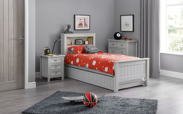 Mandy Bookcase Bed - Dove Grey