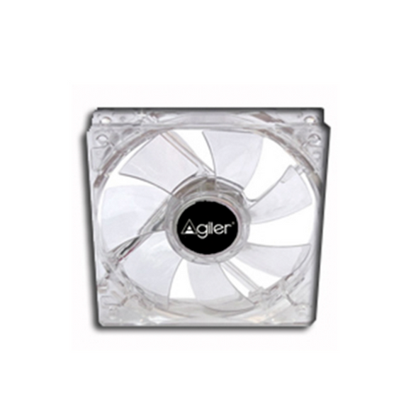 AGILER VENTILADOR PARA PC DE 80MM TRANSPARENTE CON LED