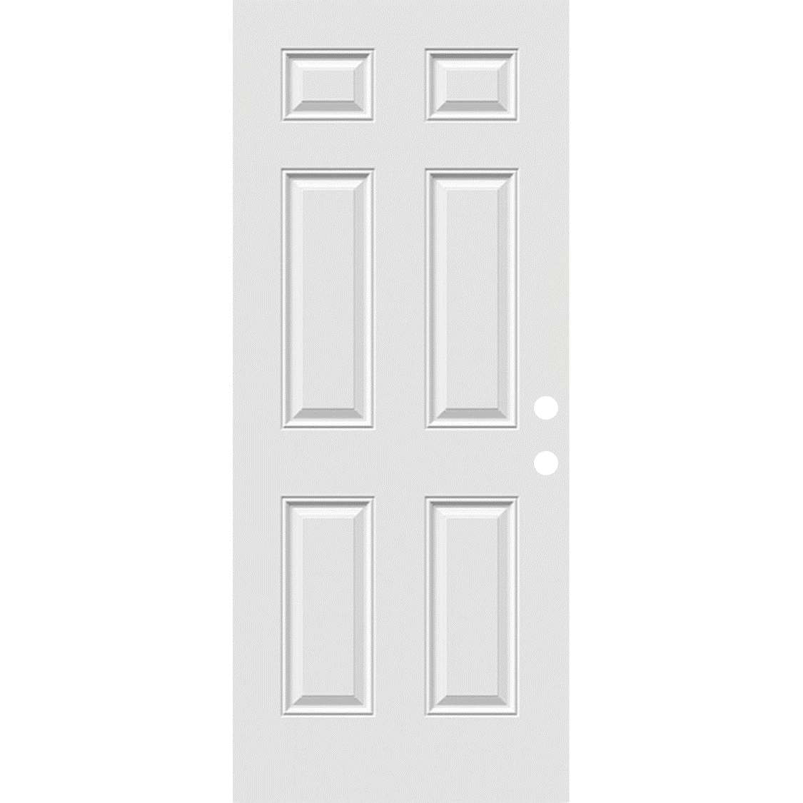 "36"" Pease Steel Entry Door Slab (6 Panel Style)"