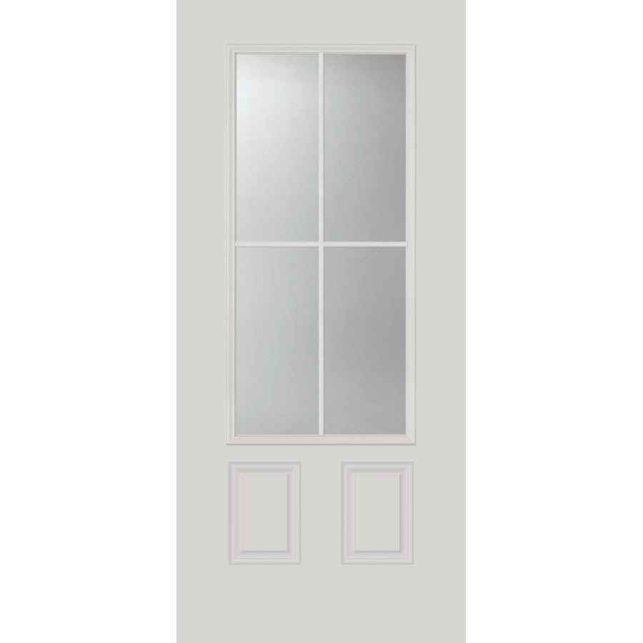 "Clear Simulated 4 Lite Glass and Frame Kit (3/4 Lite 22"" x 48"" Glass Size)"