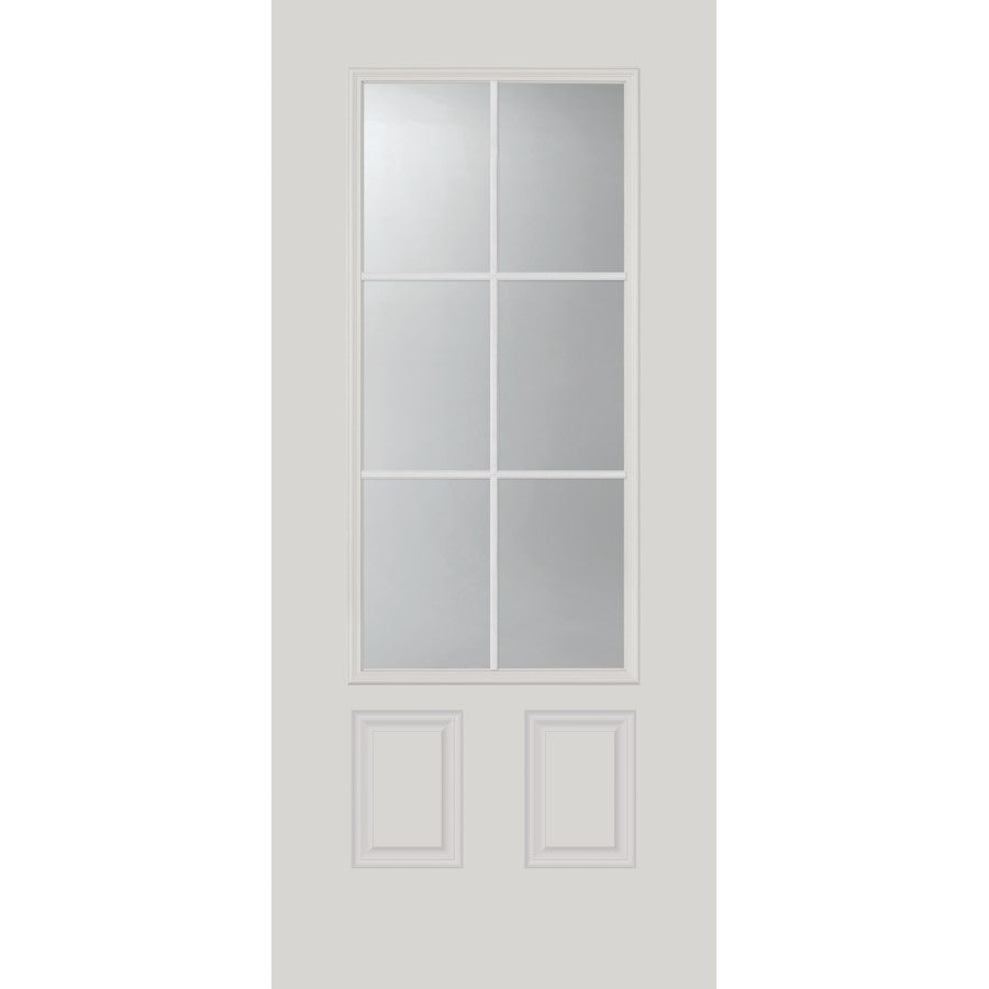 "Clear 6 Lite Glass and Frame Kit (3/4 Lite 22"" x 48"" Glass Size)"