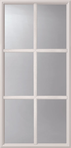 "Clear SDL 6 Lite Glass and Frame Kit (3/4 Lite 22"" x 48"" Glass Size)"