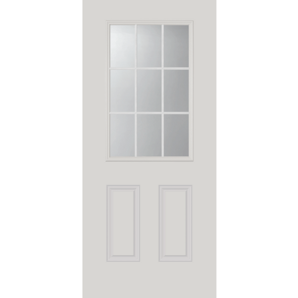 "Clear 9 Lite Glass and Frame Kit (NARROW Half Lite 20"" x 36"" Glass Size)"