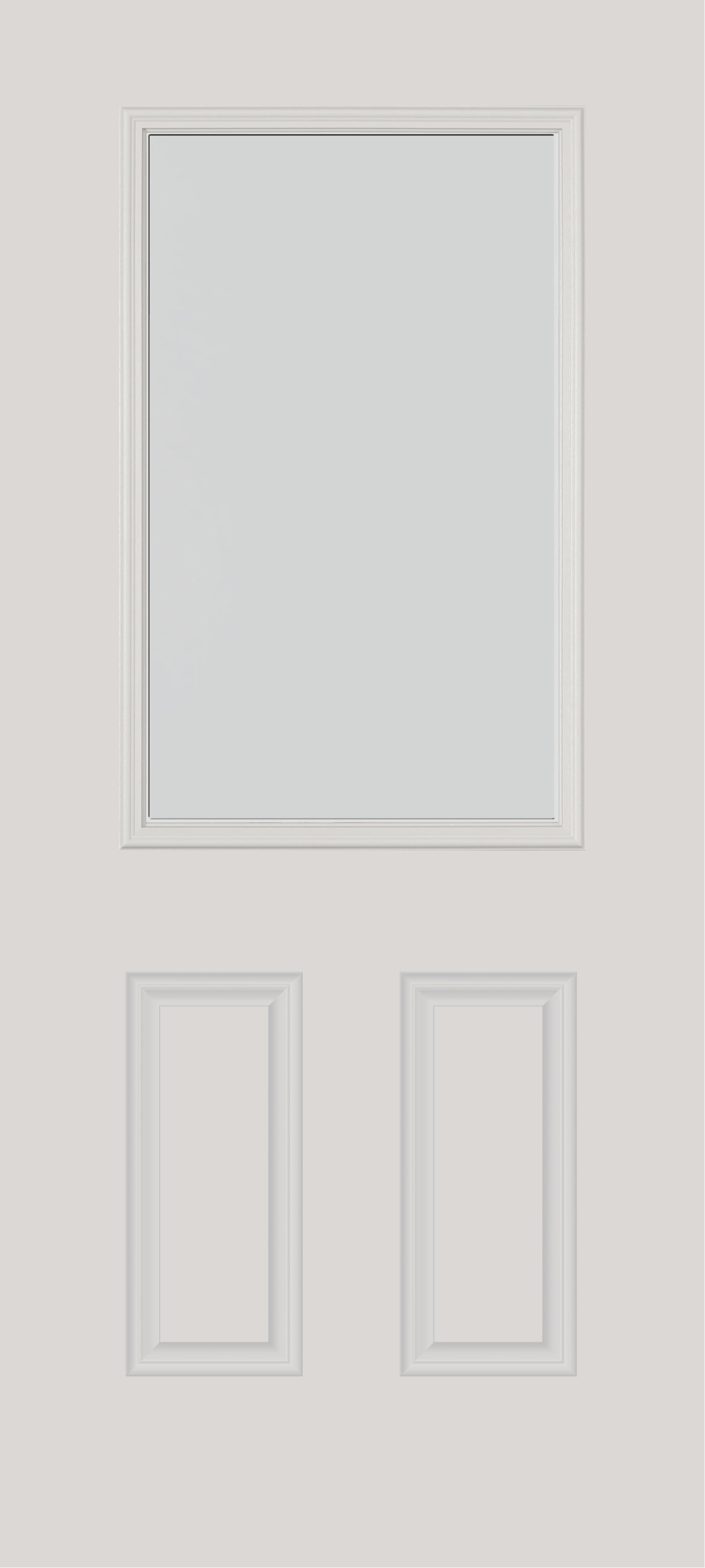 "Frost Glass and Frame Kit (Half Lite 22"" x 36"" Glass Size)"