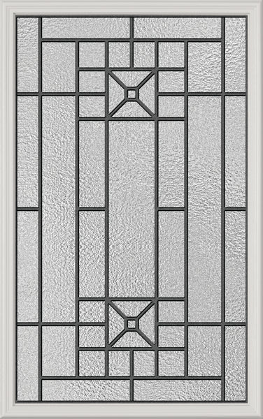 "Lisbon Glass and Frame Kit (Half Lite 22"" x 36"" Glass Size)"