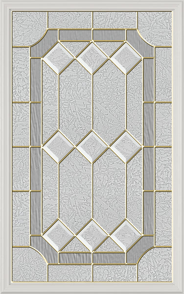 "Stratford Glass and Frame Kit (Half Lite 22"" x 36"" Glass Size)"